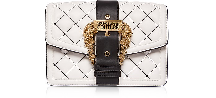 Quilted Nappa Leather Crossbody Bag w/ Buckle - Versace Jeans Couture