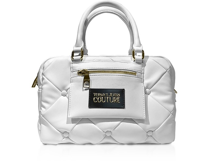 Quilted Nappa Satchel Bag - Versace Jeans Couture