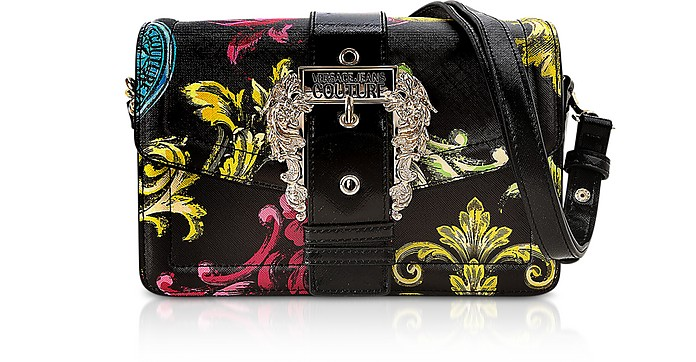 Black Heritage Saffiano Couture 1 Shoulder Bag - Versace Jeans Couture