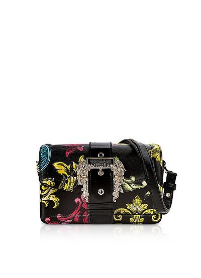 Black Heritage Saffiano Couture 1 Shoulder Bag - Versace Jeans Couture