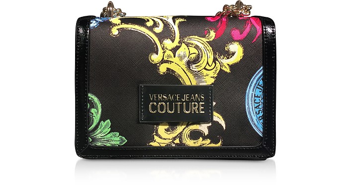 Small Black Saffiano Heritage Shoulder Bag - Versace Jeans Couture