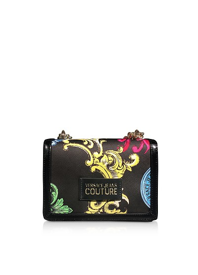 Small Black Saffiano Heritage Shoulder Bag - Versace Jeans Couture