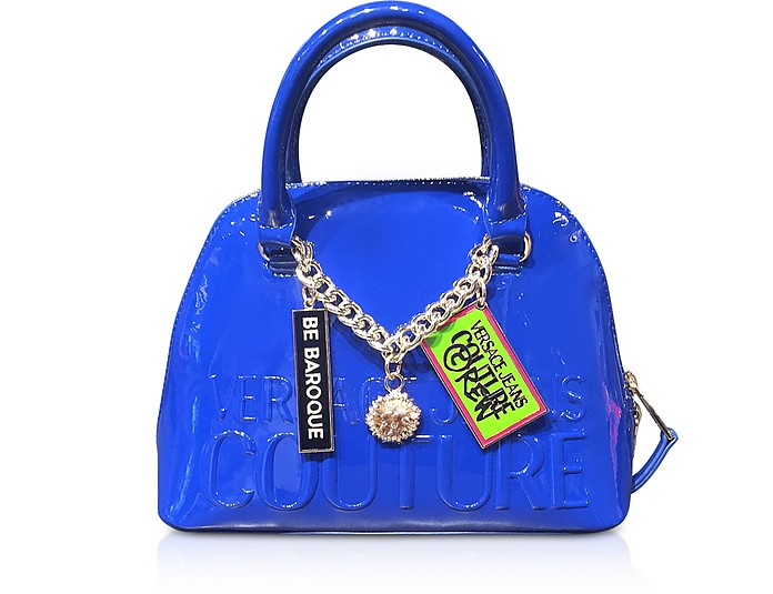 Embossed Logo Top Handle Bag w/ Charms - Versace Jeans Couture