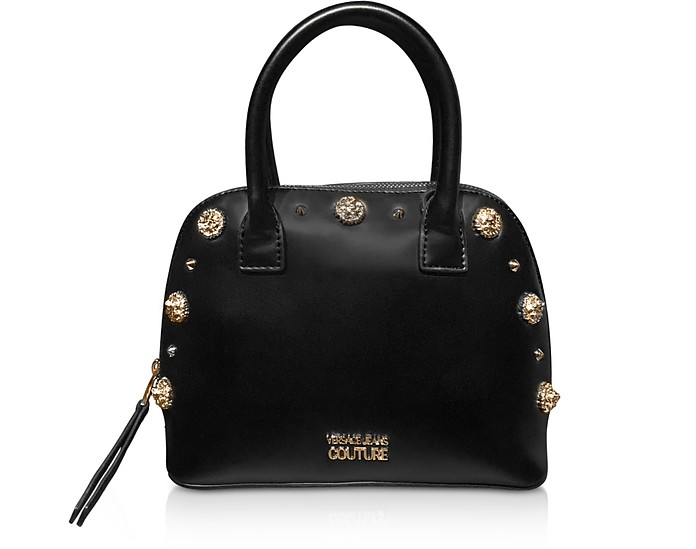 Nappa Fiore Top Handle Bag w/ Studs - Versace Jeans Couture