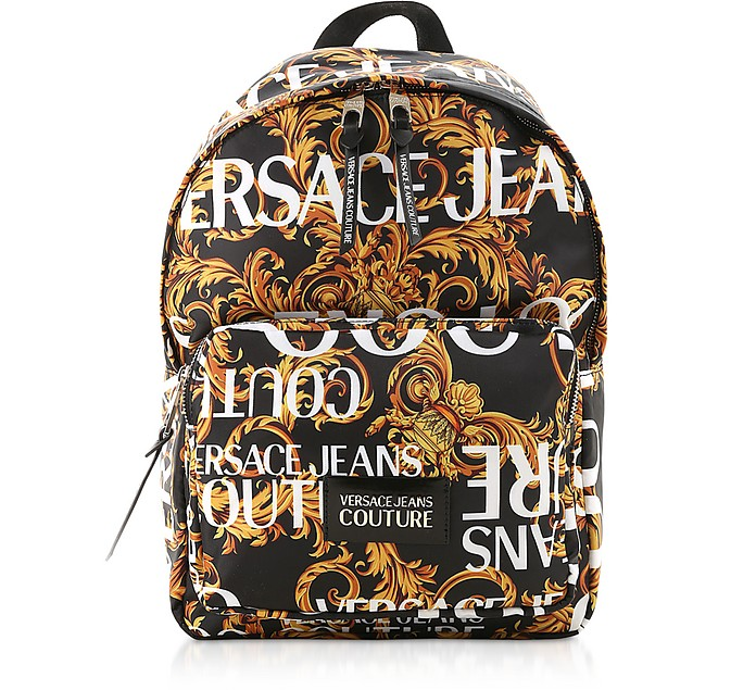 Barocco Printed Nylon Men's Backpack - Versace Jeans Couture