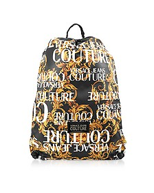 Black and Gold Heritage Print Backpack