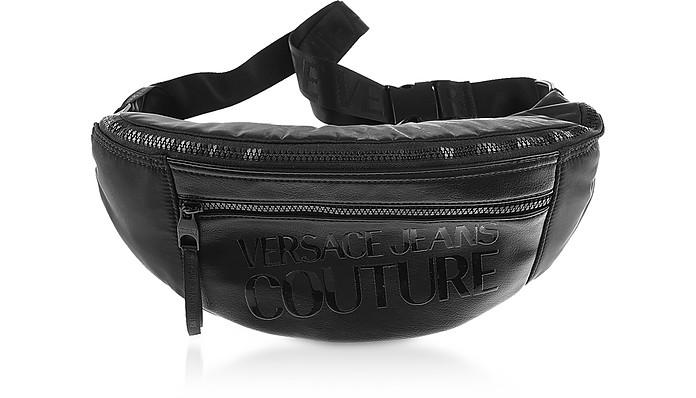 Black Grana Tartan Belt Bag - Versace Jeans Couture