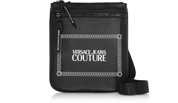 Black and White Signature Crossbody Bag - Versace Jeans Couture