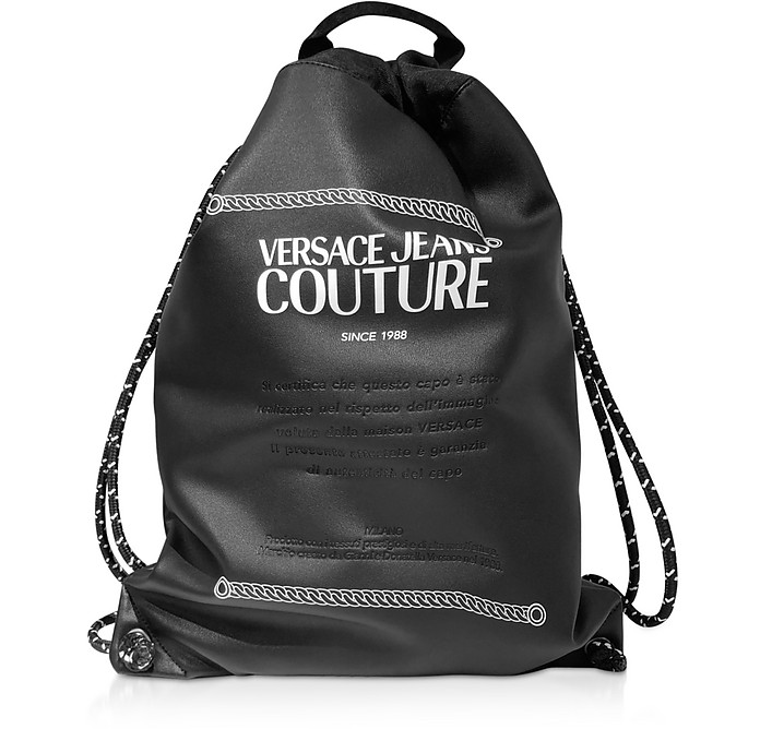 Black and White Signature Backpack - Versace Jeans Couture
