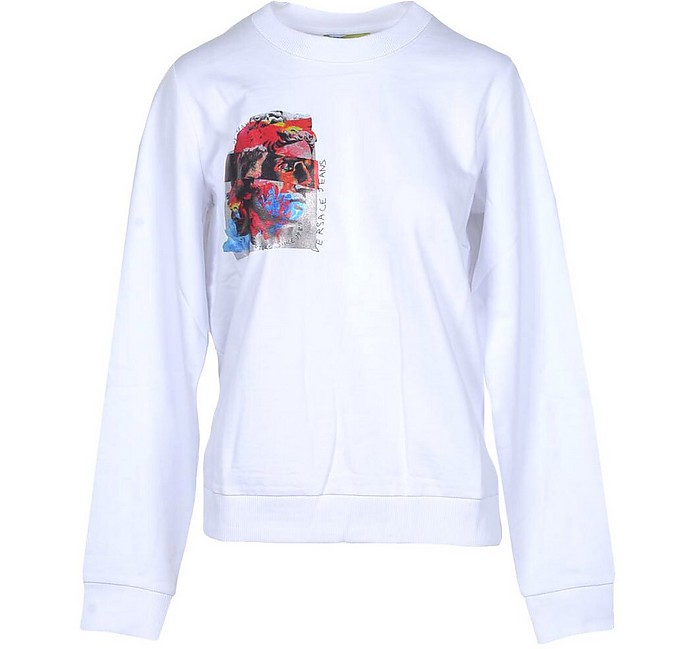White Cotton Signature Sweater - Versace Jeans Couture