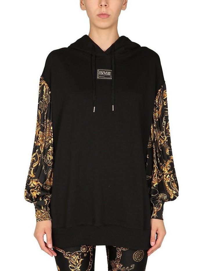 Sweatshirt With Bijoux Baroque Print - Versace Jeans Couture