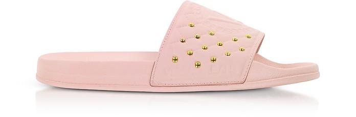 Pink Rubber Slides w/Golden Studs - Versace Jeans