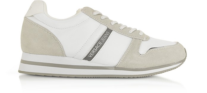 Stella White Nylon and Suede Women's Sneakers - Versace Jeans