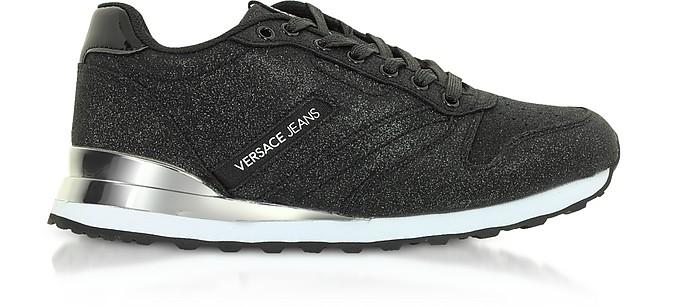 Fondo Amber Dis. 3 Black Glitter Sneakers - Versace Jeans