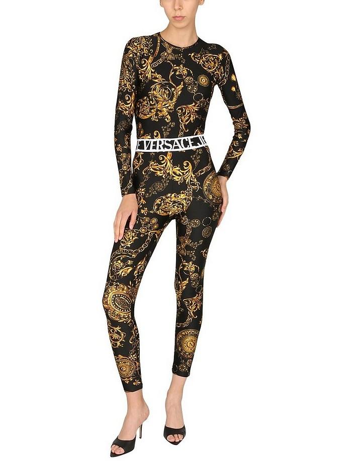 Leggings With Bijoux Baroque Print - Versace Jeans Couture