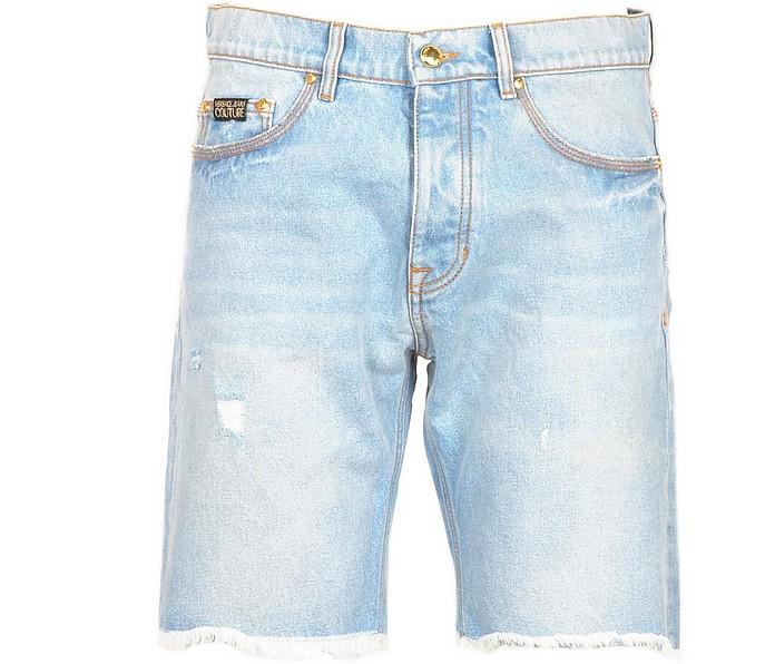 Men's Sky Blue Bermuda Shorts - Versace Jeans Couture
