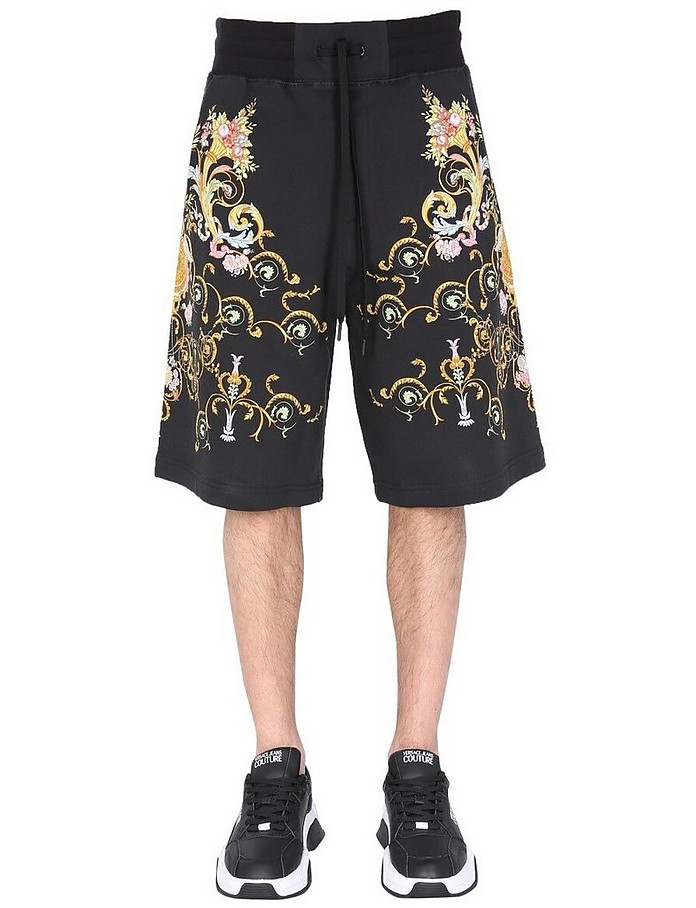 Bermuda With Tullerie Print - Versace Jeans Couture
