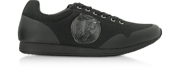 Black Coated Nylon Men's Running Sneakers - Versace Jeans