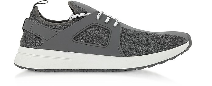 Grey Knitted Jersey Signature Men's Sneakers - Versace Jeans