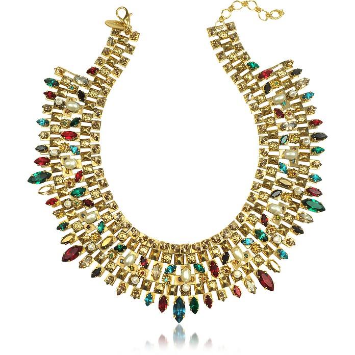 Matador Gold-Plated Crystal Necklace - Erickson Beamon