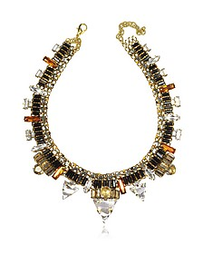 Xenon Golden Crystal Necklace