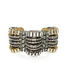 Time Warp Crystals Bangle Bracelet