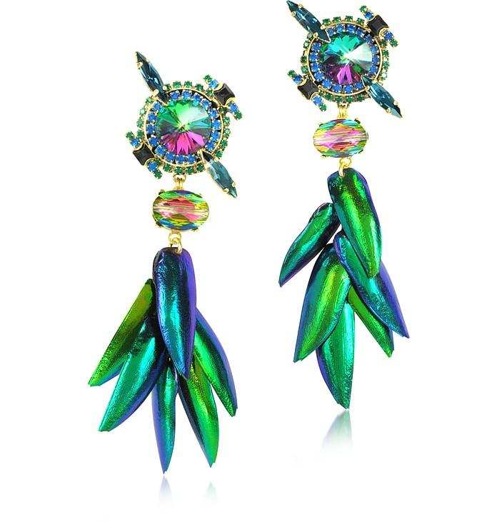 Aquarela do Brasil Crystals Clip On Earrings - Erickson Beamon