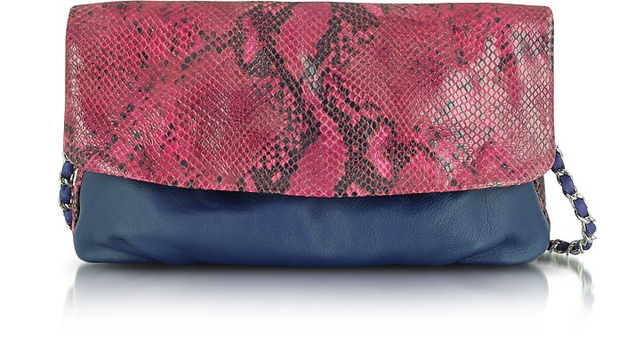 f8fd99b861 Elie Tahari Raspberry Emory - Glazed Python Shoulder Bag at FORZIERI