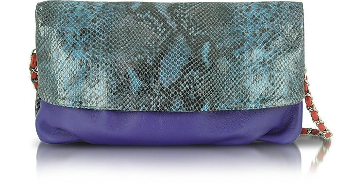 Emory - Glazed Python Shoulder Bag - Elie Tahari