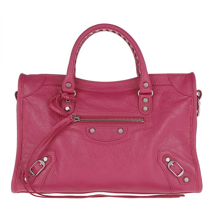 City Classic S Tote Leather Indian Rose/Black - Balenciaga / バレンシアガ