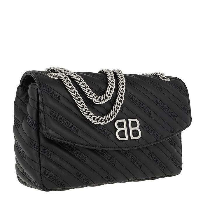 1d5107b46ff0ee BB Round Medium Bag Calf Leather Black - Balenciaga. $2,200.00 Actual  transaction amount