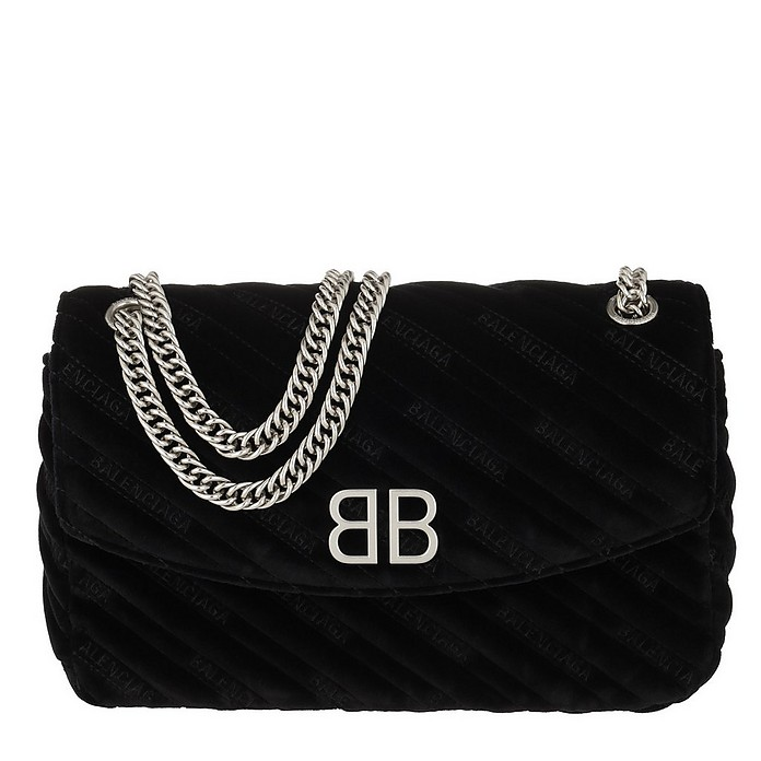 BB Round M Crossbody Bag Charms Noir - Balenciaga