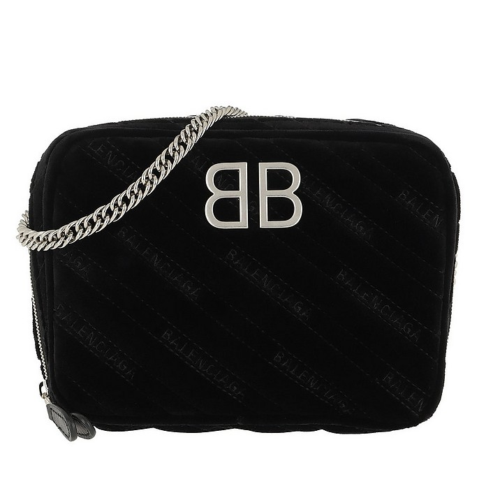 BB Camera Bag Leather Black - Balenciaga