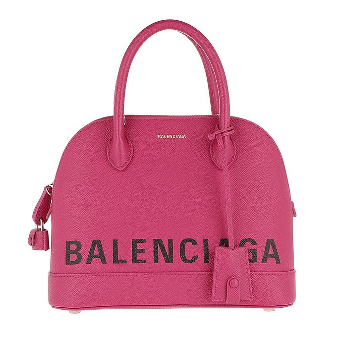 Ville - Розовая Сумка с Ручкой Вверху - Balenciaga