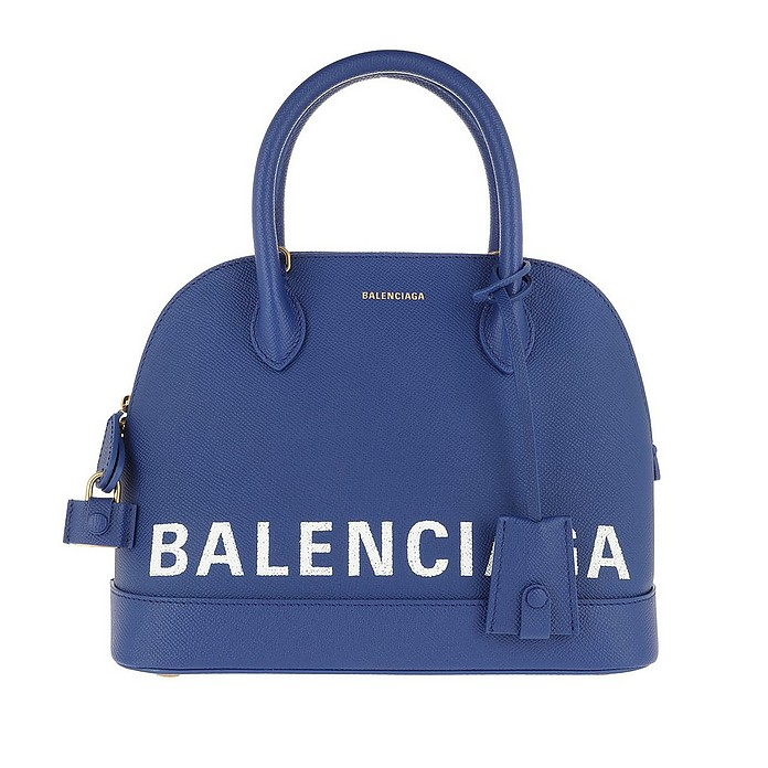 Ville Top Handle Bag S Blue - Balenciaga