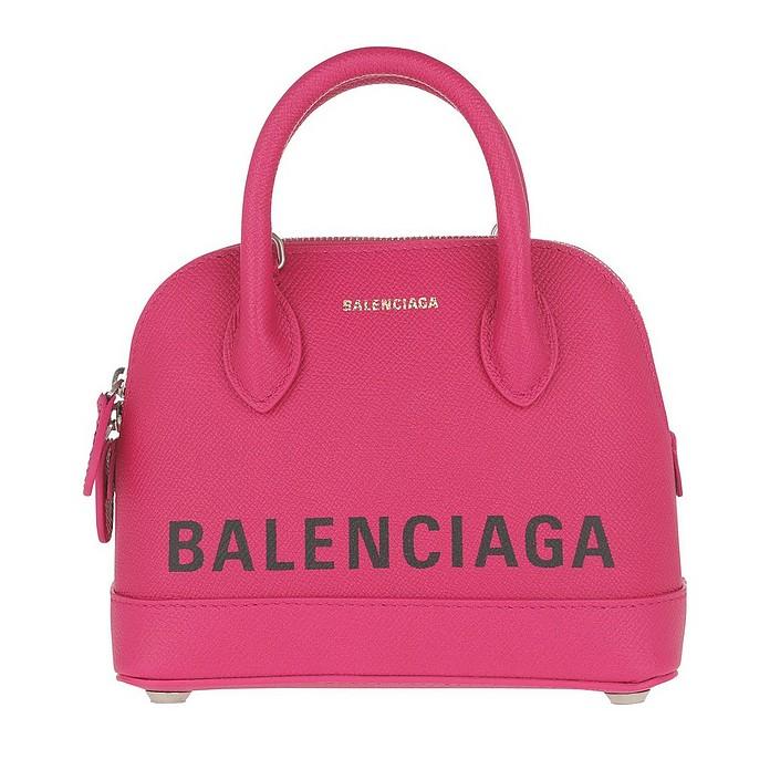 Ville Top Handle Bag XXS Leather Rose - Balenciaga