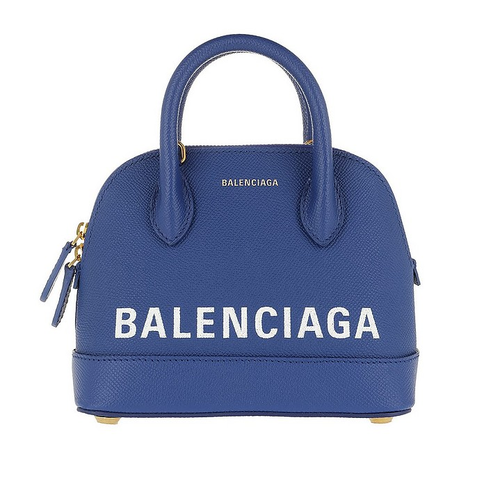 Ville Top Handle Bag XXS Blue - Balenciaga