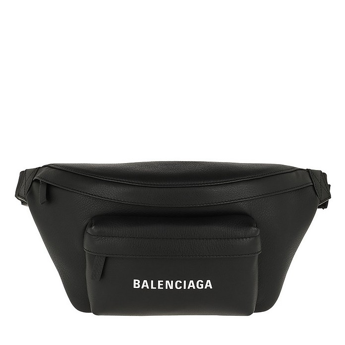 Everyday Logo Beltpack Leather Black 1 - Balenciaga / バレンシアガ