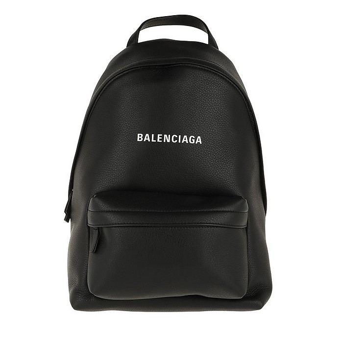Everyday Backpack Small Leather Black/White - Balenciaga / バレンシアガ