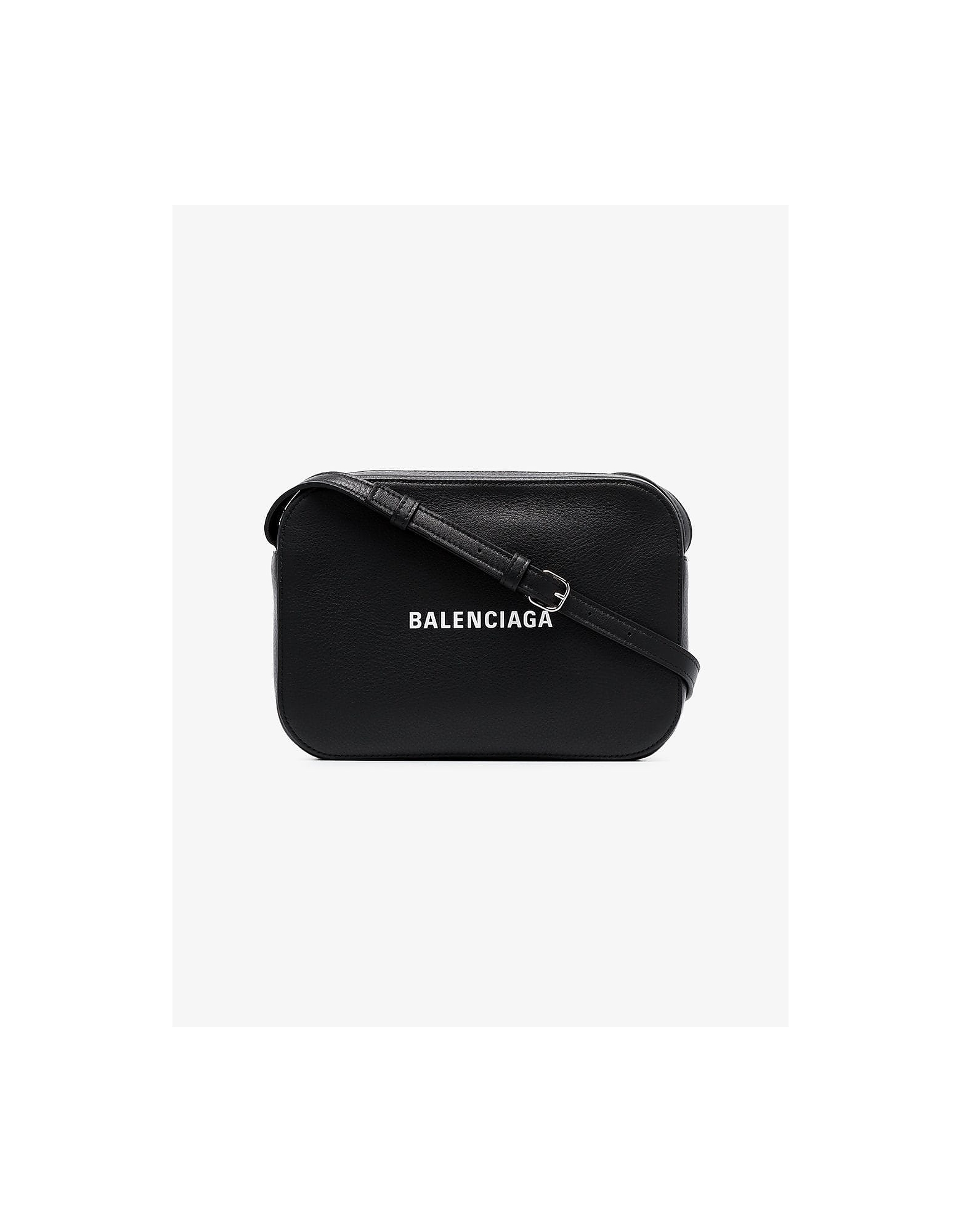 Balenciaga Bags BLACK EVERYDAY LEATHER CAMERA BAG