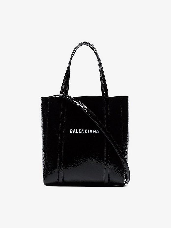 Black Everyday XXS patent leather tote bag - Balenciaga
