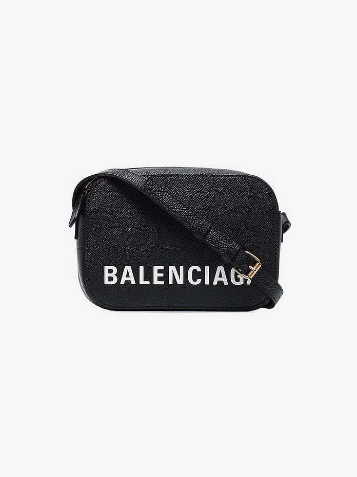 Balenciaga Crossbody Black ville leather cross body bag
