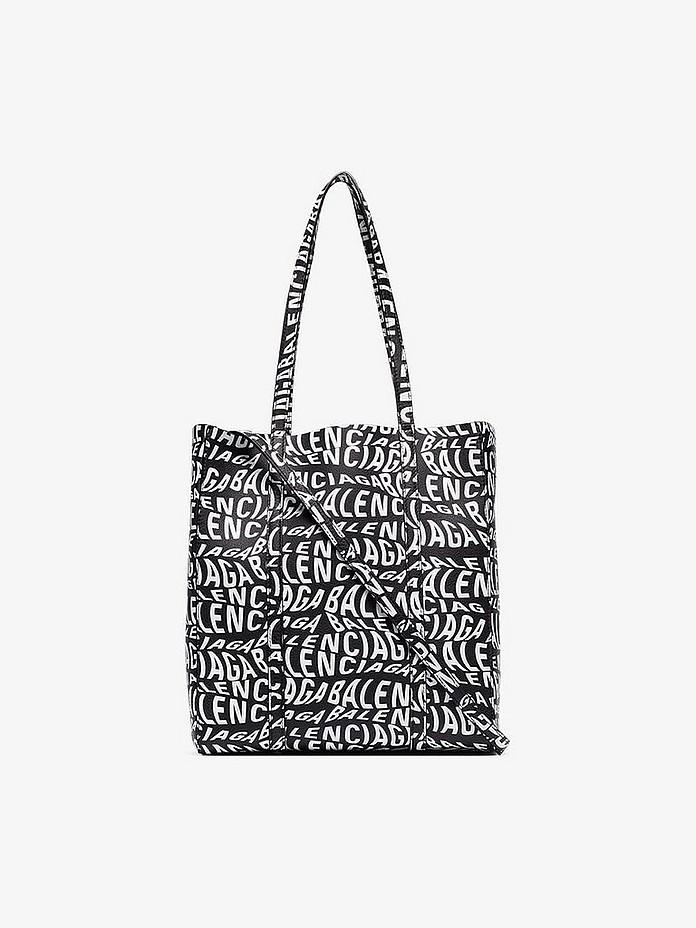 Black Everyday XS Logo Tote Bag - Balenciaga