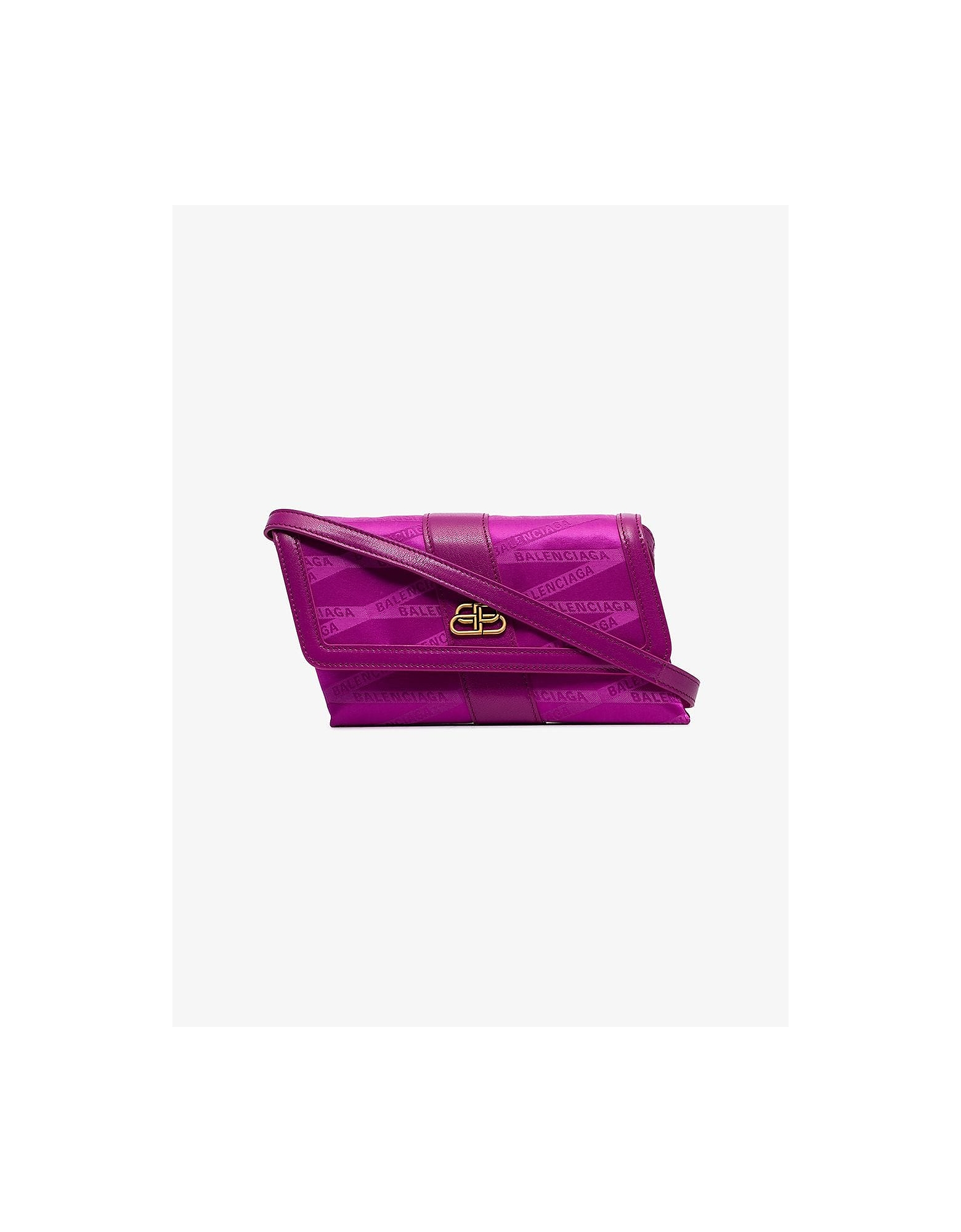 Balenciaga Crossbody FUCHSIA SHIFT MONOGRAM CROSS-BODY BAG