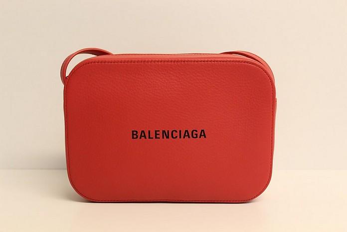 Red Leather Camera Bag - Balenciaga