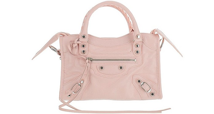 Pink Leather Mini City Bag - Balenciaga