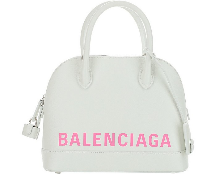 White Ville Mini Bowler Bag - Balenciaga