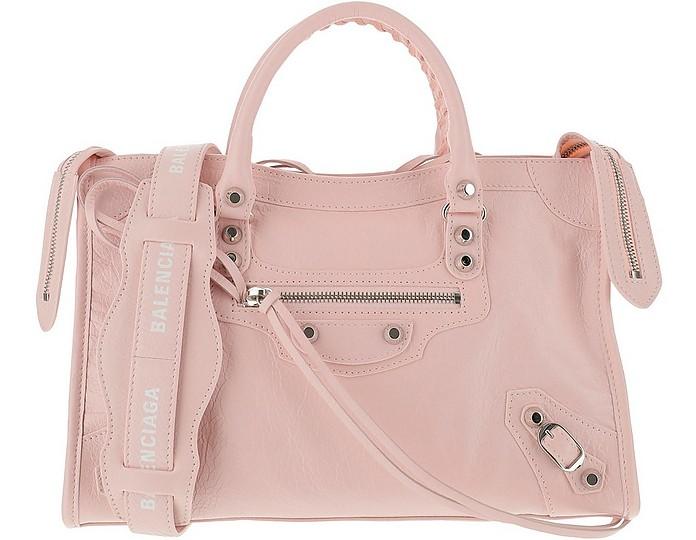 Pink Leather Classic City S Bag - Balenciaga