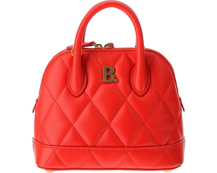 Red Quilted Leather Ville Top XXS Satchel Bag - Balenciaga