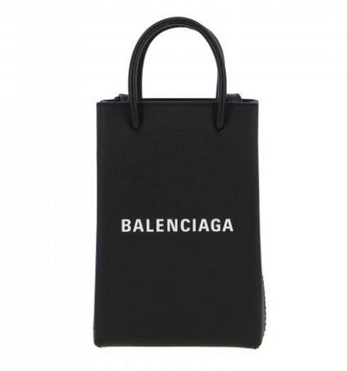 Black Phone Holder Shopping Bag - Balenciaga